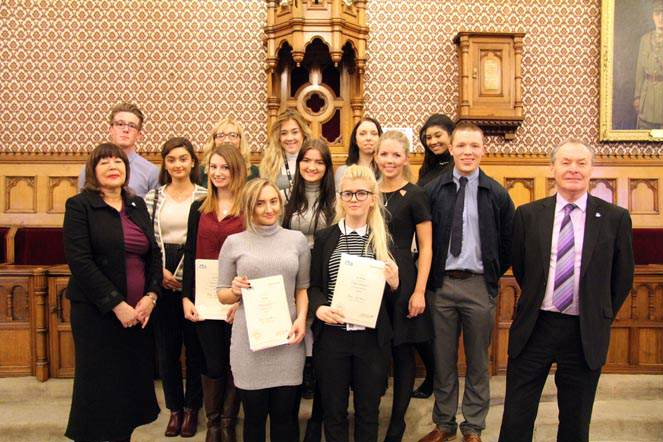 Apprentices celebrated at Town Hall