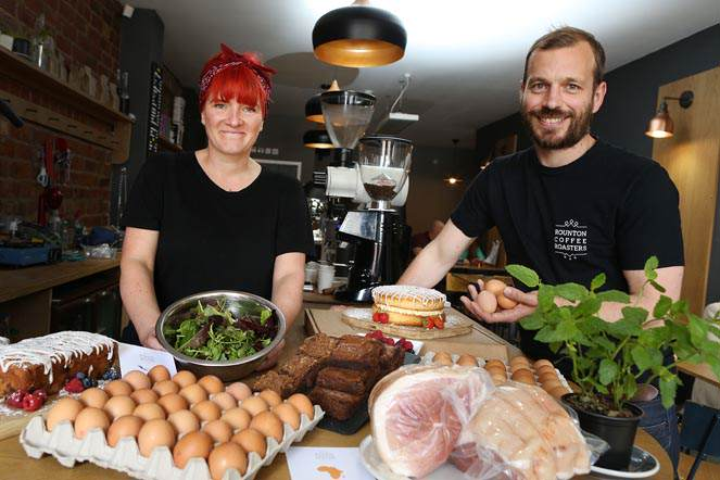 Taken Monday 12th July 2016  Liz Homan, cook at Bedford St Coffee House and David Beattie owner of Bedford St Coffee House, taken at Bedford St Coffee House has signed up to take part in Middlesbrough's first 'Local Food Weekend' on July 29th to 31st 2016 and the article will raise awareness of the event so that more businesses come forward to take part.  Byline:  Dave Charnley Photography   Mobile:  07753 559235
